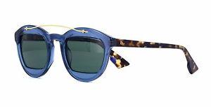 Christian Dior MANIA 1 transparent blue blonde havana/green (889/QT) Sunglasses
