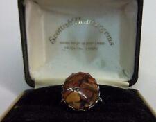 Vintage Scottish Heathergems Sterling Silver 925 Ring.