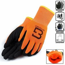 Safety Winter Insulated Double Lining Rubber Coated Work Gloves Bgwans Or