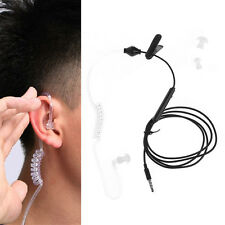 3.5mm Air Tube Anti-radiation Stereo In-Ear Single Headset Earphone With Mic