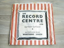 design 1970s RECORD SHOP BAG uk7lp45store vintage60s BRITISH carrier typography