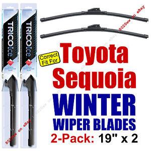 WINTER Wiper Blades 2-Pack Premium - fit 2001-2007 Toyota Sequoia - 35190x2
