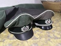 Set of two ww2 german crusher hats