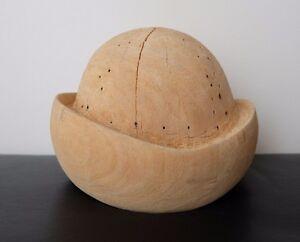 Антикварный русский винтажный деревянная дамская шляпка плесень блокформа шапка