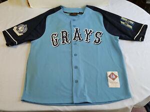 Vintage Mirage Homestead Grays Negro Baseball League Jersey Size XXXL Rare NLBM
