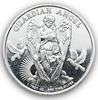 2017 Gaurdian Angel Niue One Dollar 1 oz .999 Fine Silver Coin Beautiful!