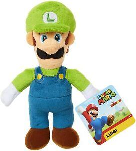 """8"""" Luigi Nintendo Super Mario Bros Plush Stuffed Toy New with Tags"""