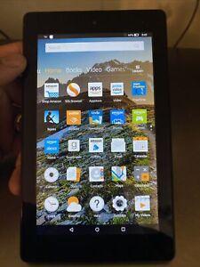 """Amazon Kindle Fire 7 (7th Gen.) (SR043KL) 8GB - Black (WiFi) 7"""" Tablet 9398"""
