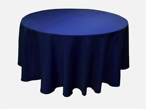 """8 PACK 90"""" inch ROUND Tablecloth Polyester WEDDING Banquet Overlay 25 Colors"""