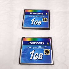 2X Transcend 1 GB CF Compact Flash Memory Cards, (Set of two disk)