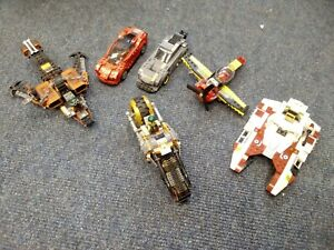 Lego city vehicles job lot - Star wars, ferrari car, race plane + figures T995