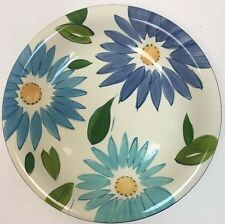 Home Dinnerware 4 Plates Large Multi-Color Flowers Leafs Pattern Design