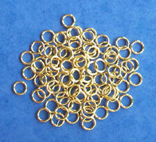 100 gold plated 6.5mm jump rings, findings for jewellery making crafts