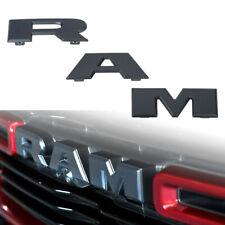 3D RAM Letters Grille Emblem for 2019 RAM 1500 DT Matte Black Decal OEM ABS