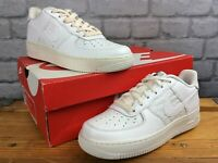 NIKE UK 5 EU 38 AIR FORCE 1 LV8 WHITE SNAKESKIN TRAINERS LADIES CHILDRENS LB