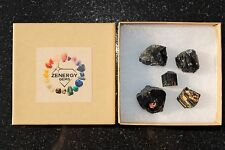 5 CHARGED Natural Rough Black Tourmaline Crystals Metaphysical Healing 250cts