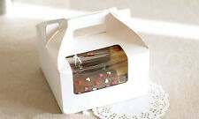 Korean Style four-Cupcake boxes with window 10pc (Really Good Quality)