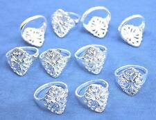 Wholesale Lots 10pcs  Silver Fashion Hollow out rings 6-9