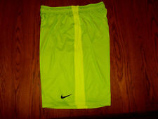 NIKE DRI-FIT GREEN STRIPED ATHLETIC BASKETBALL SHORTS MENS LARGE EXCELLENT COND.