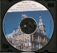 Wayne County Ohio History & Pioneers + Bonus Book