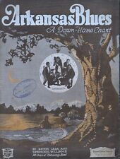 Arkansas Blues 1921 Lada's Louisiana Five Spencer Williams Sheet Music