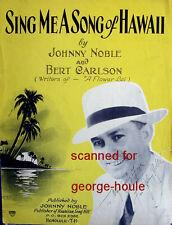 JOHNNY NOBLE - AUTOGRAPH -  - HAWAIIAN  - HAPA HAOLA - DIED AT 51 -HULA BLUES