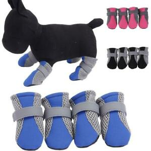 4Pcs Waterproof Casual Walk Shoes Boots for Small Large Pet Puppy Dog S/M/L New