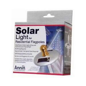 Annin Flag Pole Solar Light, Mini, Silver