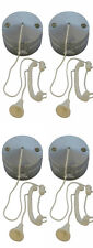 4 x Chrome Effect Ceiling Pull Switches (for Lighting Circuits) 6 amp 1 or 2 Way
