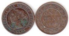 CANADA 1 CENT 1882  BB / VF # 5763