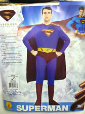 SUPERMAN ADULT COSTUME SIZE LARGE (42-44) RUBIES NEW BATMAN DC