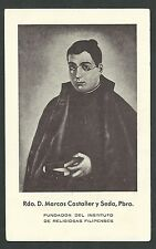 Estampa antigua Padre D. Marcos Castañer andachtsbild santino holy card santini
