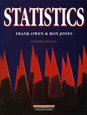 Statistics, Owen, Frank, Jones, Ron | Paperback Book | Good | 9780273603207