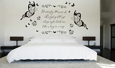 Butterfly Kisses Sleep Hugs wall stickers Decal Removable Art Vinyl Decor DIY