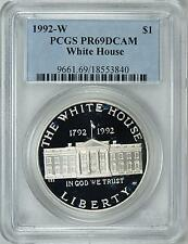 1992-W WHITE HOUSE SILVER PROOF $1 PCGS PR69DCAM