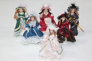 NEW Porcelain Dolls House Doll Victorian Lady/Girl & Stand 1/12th - Style Choice