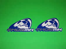 THOR MX MOTOCROSS JERSEY GLOVES PANTS HELMET BLUE & WHITE SLANT STICKERS DECALS
