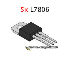 5x Voltage Regulator L7806 Ic 6V 1.5A by St, Usa Fast Shipping