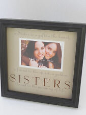"Sisters Frame New View Picture Photo Fits 4""x6"", Frame 11"" Sq, I. James Saying"