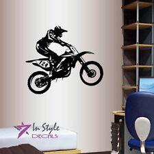 Wall Vinyl Decal Motorcycle Biker Extreme Sport Bike Chopper Moto Sticker 1417