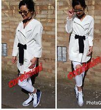 ZARA ecru jacquard long kimono  coat with contrasting belt size M