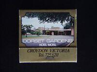 DORSET GARDENS HOTEL MOTEL CROYDON HISTORIC LOG BUGGY 7256211 MATCHBOOK