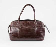 New BRUNELLO CUCINELLI Brown Crocodile Leather Purse Shoulder Bag $13,495
