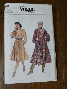 Vogue Patterns Sewing Pattern Dress Size 12-14-16 8419 Uncut