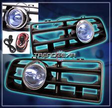 1999-2004 VW GOLF MK4 GL GTI GLS BUMPER BLUE LENS FOG LIGHTS LAMP+GRILLE+HARNESS