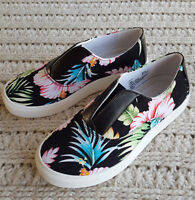Women Canvas Slip-On Athletic Sneakers Flats Shoes Maisy Comfortview Floral
