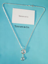 Tiffany & Co Elsa Peretti Sterling Silver Sevillana Circle Lariat Necklace