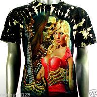 Survivor T-Shirt Biker Rock Sexy Skull Tattoo S127 Sz M L XL XXL 3XL mma Studs