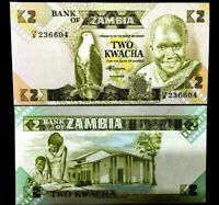 Zambia 2 Kwacha Banknote World Paper Money UNC Currency Bill Note