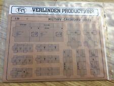 Verlinden Military Cardboard Boxes